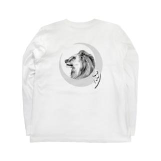 月獅子 tattooバージョン Long Sleeve T-Shirt