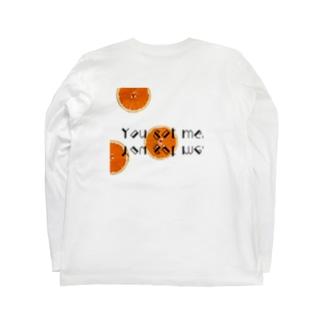 オレンジ Long sleeve T-shirts