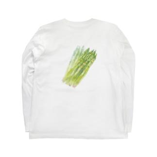 ベジタブルT(アスパラガス) Long sleeve T-shirts