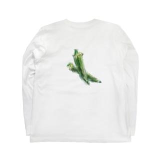 ベジタブルT(オクラ) Long sleeve T-shirts
