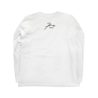 暇ひまお絵描き デザインサイン Long sleeve T-shirts