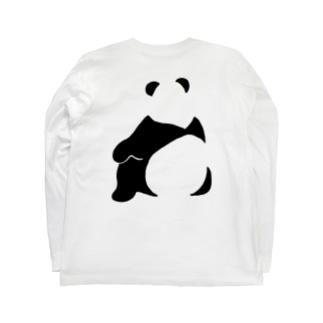 パンダ(せなか)バックプリントTシャツ Long sleeve T-shirts