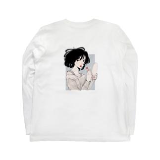 [Basic&カラフル]バックOnly・おしゃロンT Long sleeve T-shirts