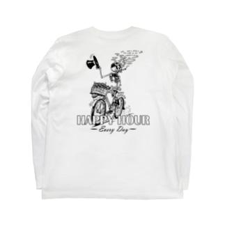 """HAPPY HOUR""(B&W) #2 Long Sleeve T-Shirt"