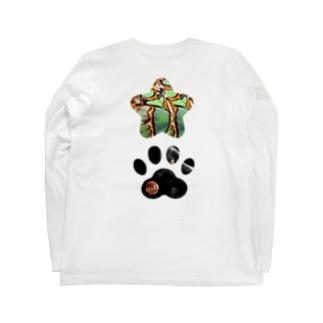 OTTER A POW星と足跡03 Long sleeve T-shirts