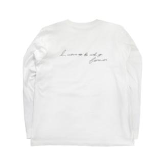 背面メッセージ入りロンT Long sleeve T-shirts