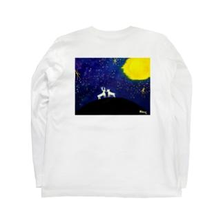 鹿と星空 背面 Long Sleeve T-Shirt