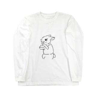 うさぎむすこ(黒8) Long sleeve T-shirts