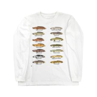 プチプチポリプ(オールスター) Long sleeve T-shirts