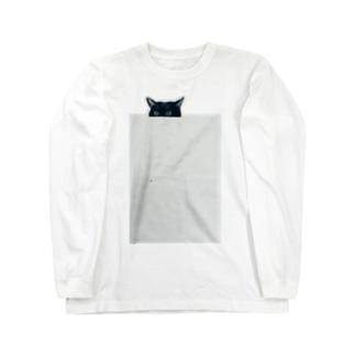 ちょっとだけ猫 Long sleeve T-shirts