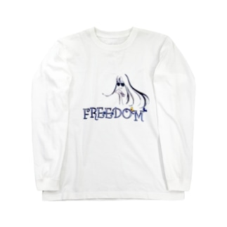 FREEDOM ロングヘアー女子 Long sleeve T-shirts