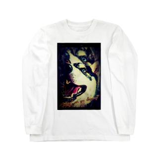 ダーティー ハスキー Long sleeve T-shirts