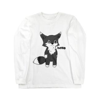 黒狐くんのハロー Long sleeve T-shirts