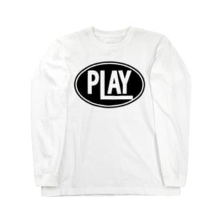 ELLIPSE LOGO BL ① Long sleeve T-shirts