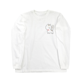振り向き猫 Long sleeve T-shirts