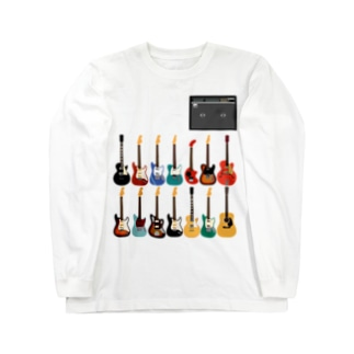 ギターとアンプ Long sleeve T-shirts