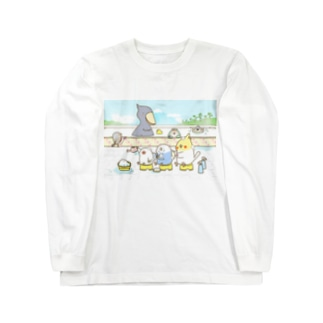 銭湯「鳥の湯」 Long sleeve T-shirts