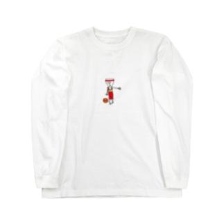 バスケ宇宙人 Long sleeve T-shirts