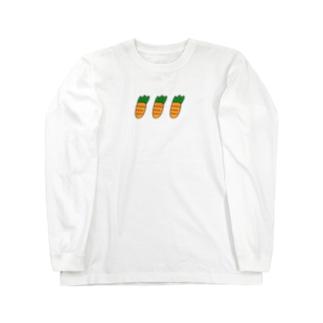 にんじん Long sleeve T-shirts