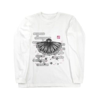 「舞庭」Series * 青海波 monougi❀ Long sleeve T-shirts