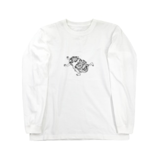 逃げ惑うとら Long sleeve T-shirts
