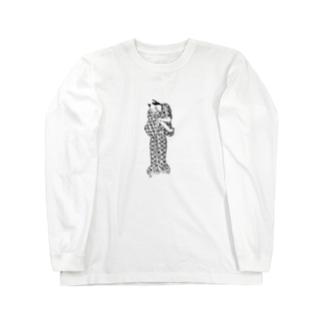 様子をうかがうふく Long sleeve T-shirts