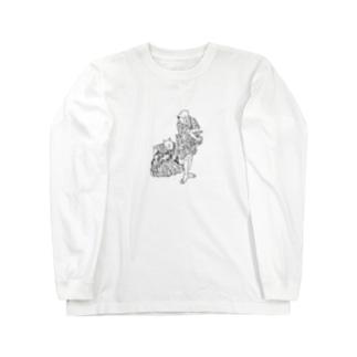 大見得を切るふく Long sleeve T-shirts