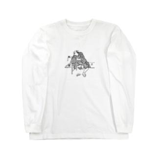 金銀の鈴を見せるぺけ Long sleeve T-shirts
