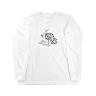 講談する猫 Long sleeve T-shirts
