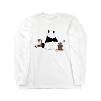 ドリップ待ちのパンダ🐼 Long Sleeve T-Shirt