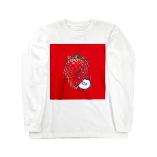 MOGUMO SHOPのいちごもぐもぐくん Long sleeve T-shirts