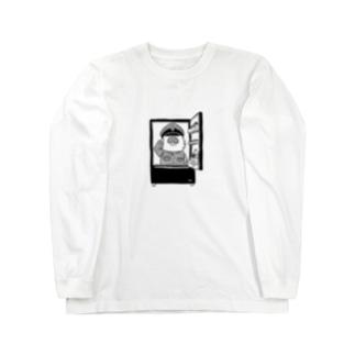 敬礼モグァンプ~家電エンブレム~ Long sleeve T-shirts