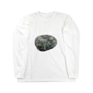 石がめり込んだ Long sleeve T-shirts