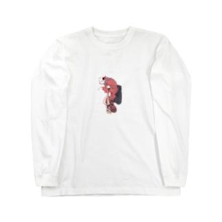 艶やかな芸者猫 Long sleeve T-shirts