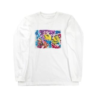 ファッション画  金魚とカロロ Long sleeve T-shirts