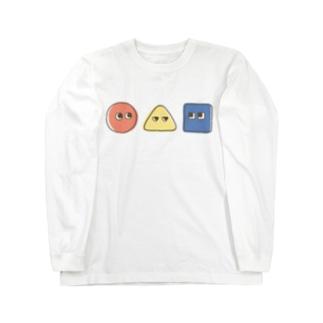 まるさんかくしかく Long sleeve T-shirts