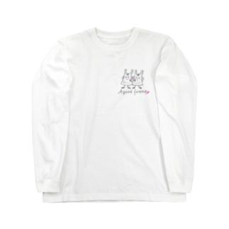 レジ袋さん Long sleeve T-shirts