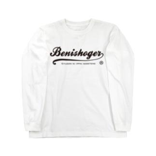 BENISHOGER 筆記体黒 Long sleeve T-shirts