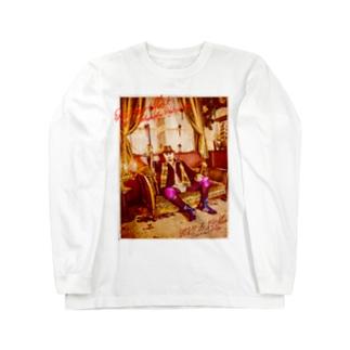 平日マスクグラフィック-レトロ- Long sleeve T-shirts
