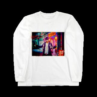 HAKO NO KIMAGUREの平日マスクグラフィック-ネオン- Long sleeve T-shirts