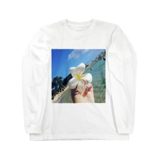 アロハ☆プルメリア Long sleeve T-shirts