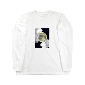 月が綺麗ですね。 Long sleeve T-shirts