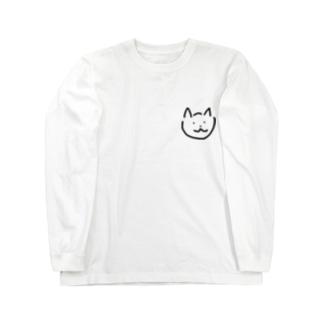 ネコ Long sleeve T-shirts