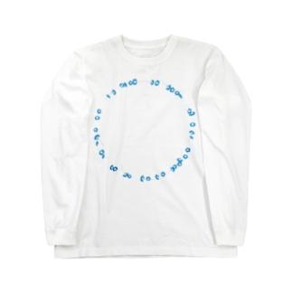 瑠璃唐草 Long sleeve T-shirts
