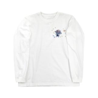まゆ太は宇宙なう Long sleeve T-shirts