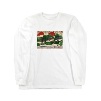 カメ戦車〜南北砂漠の旅〜 Long sleeve T-shirts