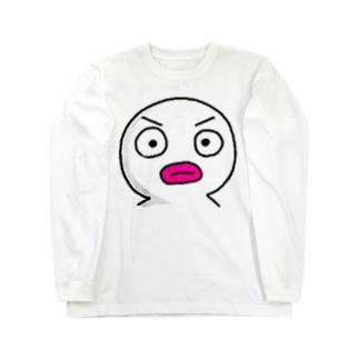 真っ白いヤツ! Long sleeve T-shirts