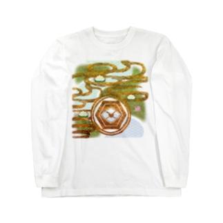 「舞庭」Series * river&lotus Long sleeve T-shirts