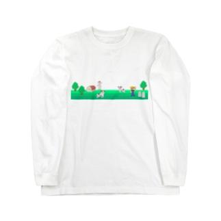 牧場の風景シリーズ Long sleeve T-shirts