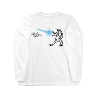 鳥獣人物戯画 カメハメ波 Long sleeve T-shirts